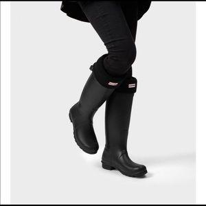 NWT Tall Hunter boots matte black